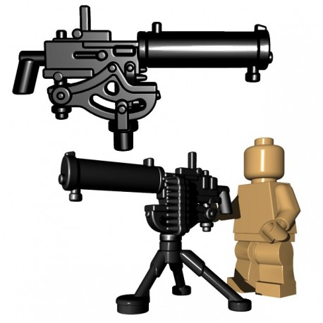 Lego Accessoires Minifigure BrickWarriors - US Water Cooled MG + Tripod (Noir)