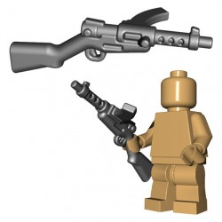 Lego Accessoires Minifigure BrickWarriors - Japanese SMG (Steel)