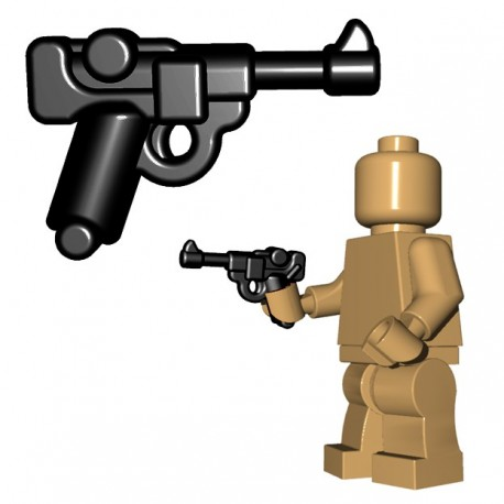 Lego Accessoires Minifigure BrickWarriors - German Officer Pistol (Noir)