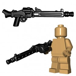 Lego Accessoires Minifigure BrickWarriors - MG42 Machine Gun (Noir)