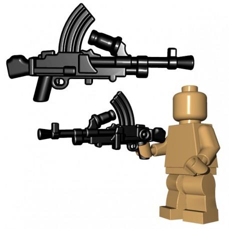 Lego Accessoires Minifigure BrickWarriors - British LMG (Noir)