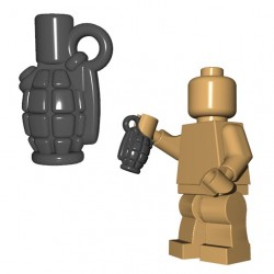 Lego Accessoires Minifigure BrickWarriors - Allies Grenade (Gris)