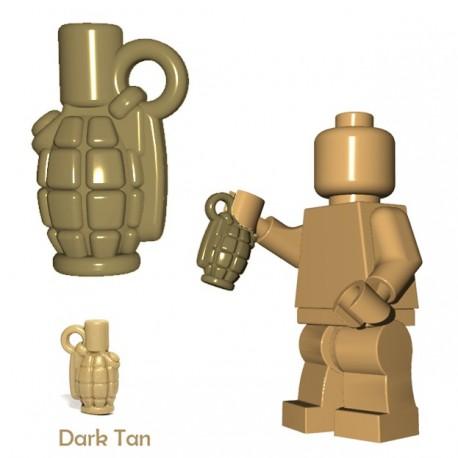 Lego Accessoires Minifigure BrickWarriors - Allies Grenade (Beige foncé)