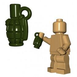Lego Accessoires Minifigure BrickWarriors - Allies Grenade (Vert Militaire)