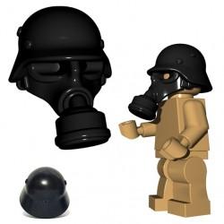 Lego Accessoires Minifigure BrickWarriors - Masque à Gaz Allemand (Noir)
