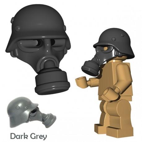 Lego Accessoires Minifigure BrickWarriors - Masque à Gaz Allemand (Gris)