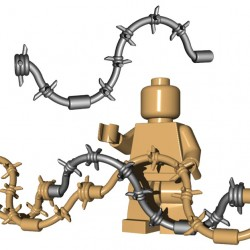 Lego Accessoires Minifigure BrickWarriors - Fil barbelé (Steel)