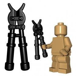 Lego Accessoires Minifigure BrickWarriors - Coupe Boulons (Noir)