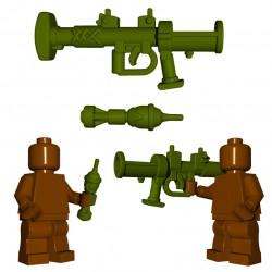 Lego Accessoires Minifigure BrickWarriors - British Rocket Launcher (Vert Militaire)