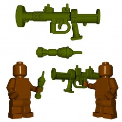 BrickWarriors - British Rocket Launcher (Army Green)