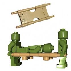 Lego Accessoires Minifigure BrickWarriors - Civière (Beige foncé)