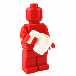 Lego - White Minifig, Utensil Cup