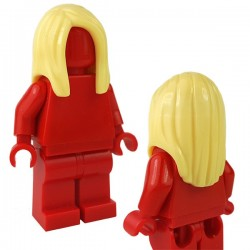LEGO - Bright Light Yellow Minifig, Hair Female Long Straight