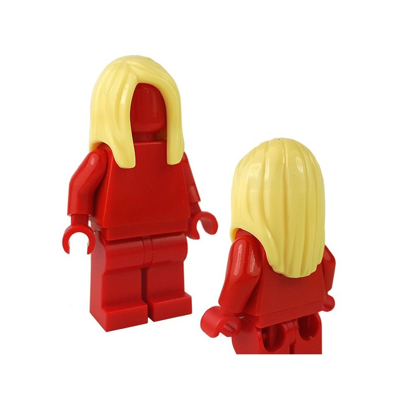 LEGO Bright Light Yellow Minifigure Hair Ponytail Long with Side Bangs