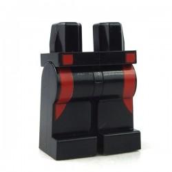 Lego - Accessoires Minifigure - Jambes Bandes rouges (Noir)