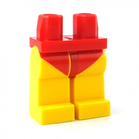 Lego - Accessoires Minifigure - Jambes Maillot de Bain Rouge