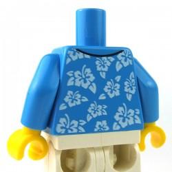 LEGO - Torse - Chemise Hawaienne (Dark Azure)