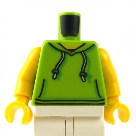 LEGO Minifigure - Torse - Sweat Capuche (Lime)