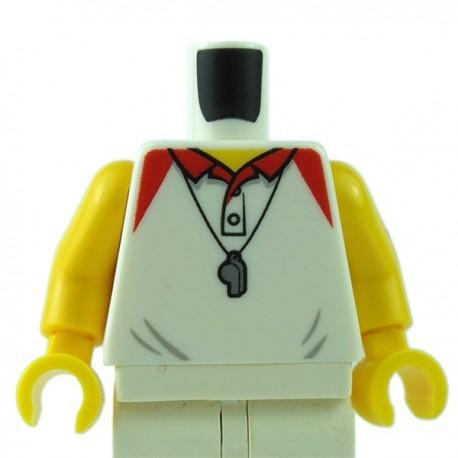 Lego Minifigure - Torse - Polo, Sifflet (Blanc)