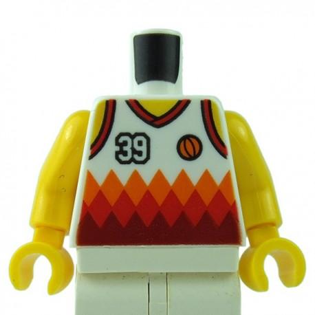 1x Lego Figura Torso Basket Giocatore Rosso Nr.6 Sports NBA nba041 973bpb188c01