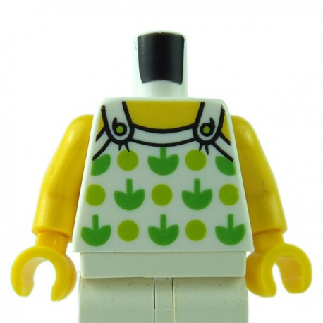 LEGO - White Torso Halter Top with Green Apples & Lime Spots