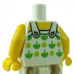 Lego Minifigure - Torse - Top avec pommes vertes (Blanc)