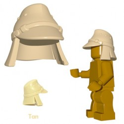 Lego Accessoires Minifigure BrickWarriors - Casquette Japonaise (Beige)