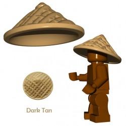 Lego Accessoires Minifigure BrickWarriors - Chapeau Chinois (Beige foncé)