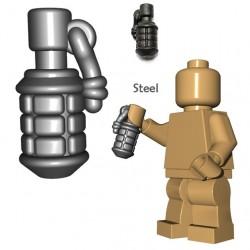 Lego Accessoires Minifigure BrickWarriors - Grenade Japonaise (Steel)