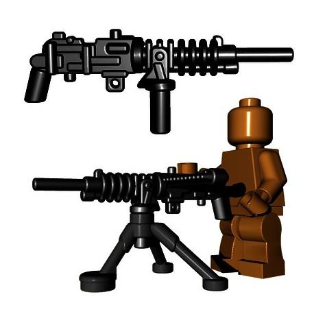 Lego Accessoires Minifigure BrickWarriors - Japanese HMG + Tripod (Noir)