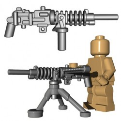 Lego Accessoires Minifigure BrickWarriors - Japanese HMG + Tripod (Steel)