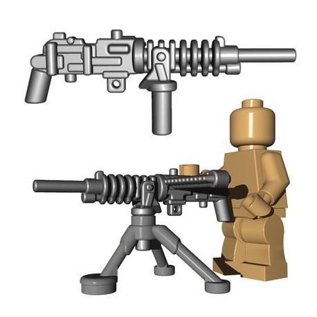 BrickWarriors - Japanese HMG + Tripod (Steel)
