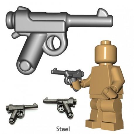 Lego Accessoires Minifigure BrickWarriors - Pistolet japonais (Steel)