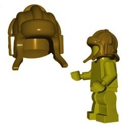 Lego Accessoires Minifig BrickWarriors - Casque Soviet Tanker (Beige foncé)