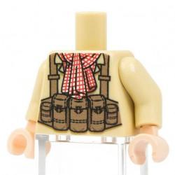 Lego Minifig Co. - Torse NVA Red Scarf (Beige)