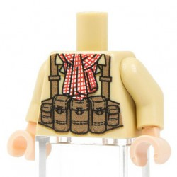 Minifig Co.- NVA Red Scarf Torso (Tan)