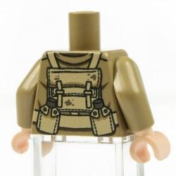 Lego Minifig Co. - Torse WW2 British Wounded (Beige foncé)