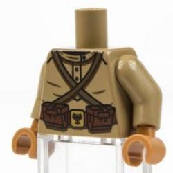 Lego Minifig Co. - Torse WW1 Russian (Beige foncé)