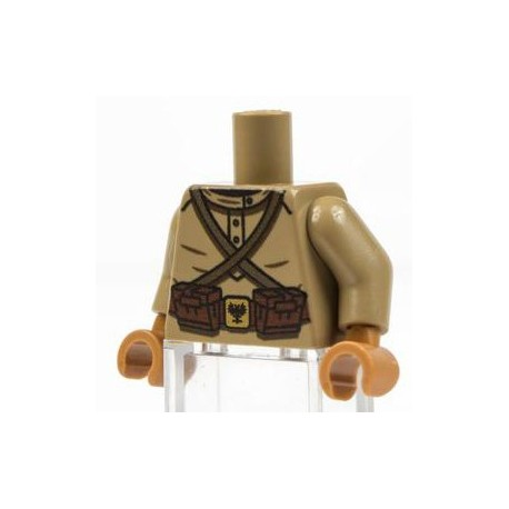 Minifig Co.- WW1 Russian Torso (Dark Tan)