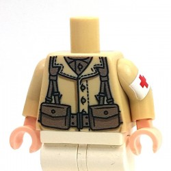 Lego Minifig Co. - Torse US Medic (Beige)
