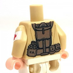 Minifig Co.- US Medic Torso (Tan)