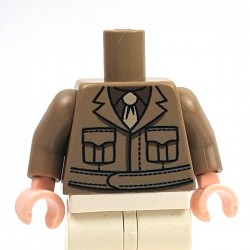 Lego Minifig Co. - Torse US Officer (Beige foncé)