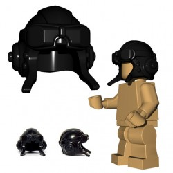 Lego Minifig BrickWarriors - Casque Aviateur (Noir)