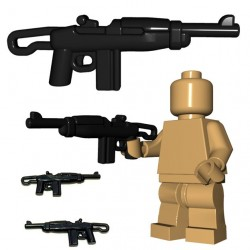 Lego Minifig BrickWarriors - Paratrooper Carbine (Noir)