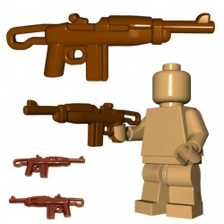 Lego Minifig BrickWarriors - Paratrooper Carbine (Marron)