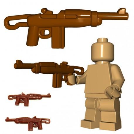 Lego Minifig BrickWarriors - Paratrooper Carbine (Marron)