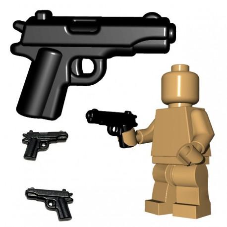 Lego Minifig BrickWarriors - US Pistol (Noir)