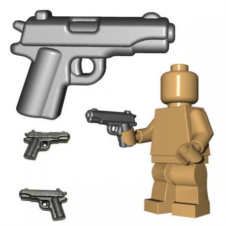 Lego Minifigure BrickWarriors - US Pistol (Steel)