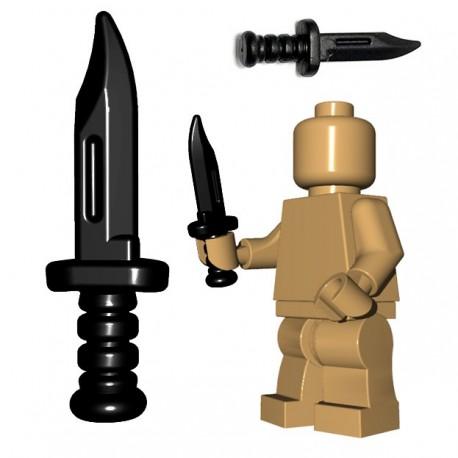 Lego Minifigure BrickWarriors - Military Knife (Noir)