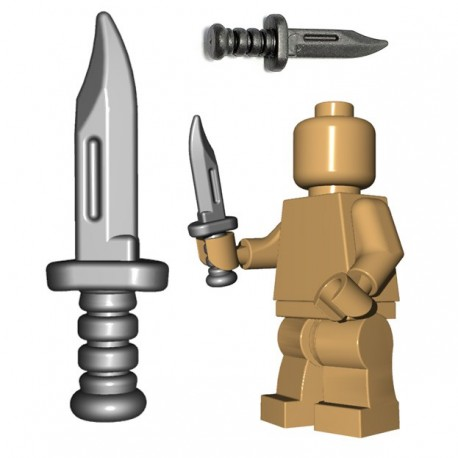 Lego Minifigure BrickWarriors - Military Knife (Steel)